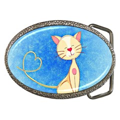 Cute Cat Belt Buckle (oval) by Colorfulart23
