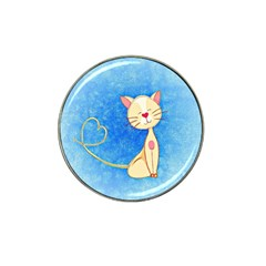Cute Cat Golf Ball Marker 4 Pack (for Hat Clip) by Colorfulart23