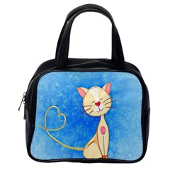 Cute Cat Classic Handbag (one Side) by Colorfulart23