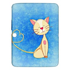 Cute Cat Samsung Galaxy Tab 3 (10 1 ) P5200 Hardshell Case  by Colorfulart23