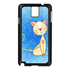 Cute Cat Samsung Galaxy Note 3 N9005 Case (black) by Colorfulart23