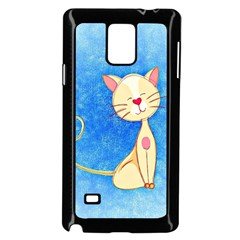 Cute Cat Samsung Galaxy Note 4 Case (black) by Colorfulart23