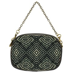 Geometric Futuristic Grunge Print Chain Purse (two Sided)  by dflcprints