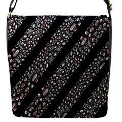 Organic Texture Stripe Pattern Flap Closure Messenger Bag (small) by dflcprints