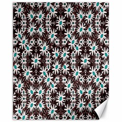 Modern Floral Geometric Pattern Canvas 16  X 20  (unframed) by dflcprints
