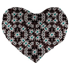 Modern Floral Geometric Pattern 19  Premium Heart Shape Cushion by dflcprints