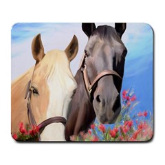 Miwok Horses Large Mouse Pad (rectangle) by JulianneOsoske