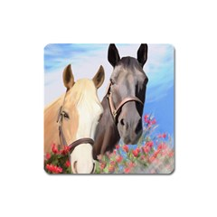 Miwok Horses Magnet (square) by JulianneOsoske