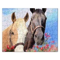 Miwok Horses Jigsaw Puzzle (rectangle) by JulianneOsoske