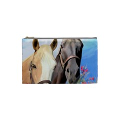 Miwok Horses Cosmetic Bag (small) by JulianneOsoske