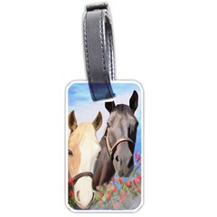 Miwok Horses Luggage Tag (one Side) by JulianneOsoske