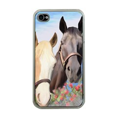 Miwok Horses Apple Iphone 4 Case (clear) by JulianneOsoske