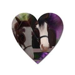 Two Horses Magnet (heart) by JulianneOsoske