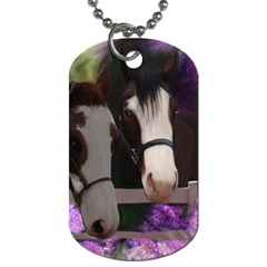 Two Horses Dog Tag (one Sided)