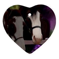 Two Horses Heart Ornament (two Sides) by JulianneOsoske
