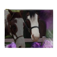 Two Horses Cosmetic Bag (xl) by JulianneOsoske