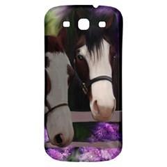 Two Horses Samsung Galaxy S3 S Iii Classic Hardshell Back Case by JulianneOsoske