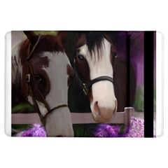 Two Horses Apple Ipad Air Flip Case by JulianneOsoske