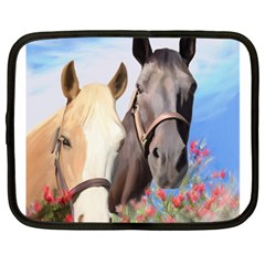 Miwok Horses Netbook Sleeve (large) by JulianneOsoske