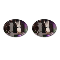 Two Horses Cufflinks (oval) by JulianneOsoske