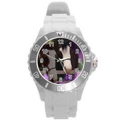 Two Horses Plastic Sport Watch (large) by JulianneOsoske