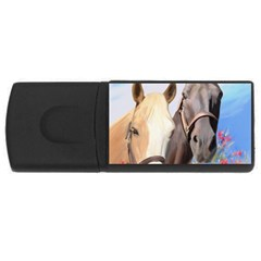 Miwok Horses 4gb Usb Flash Drive (rectangle) by JulianneOsoske