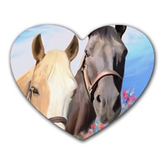 Miwok Horses Mouse Pad (heart) by JulianneOsoske