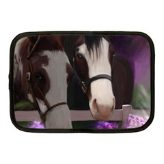 Two Horses Netbook Sleeve (medium) by JulianneOsoske