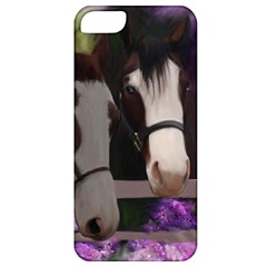 Two Horses Apple Iphone 5 Classic Hardshell Case by JulianneOsoske