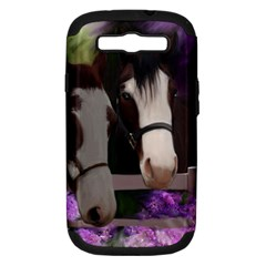 Two Horses Samsung Galaxy S Iii Hardshell Case (pc+silicone) by JulianneOsoske