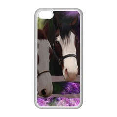 Two Horses Apple Iphone 5c Seamless Case (white) by JulianneOsoske