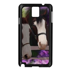 Two Horses Samsung Galaxy Note 3 N9005 Case (black) by JulianneOsoske