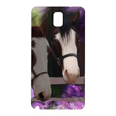 Two Horses Samsung Galaxy Note 3 N9005 Hardshell Back Case by JulianneOsoske