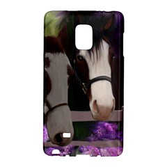 Two Horses Samsung Galaxy Note Edge Hardshell Case by JulianneOsoske
