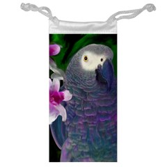 African Grey Parrot Jewelry Bag by JulianneOsoskeFeathers