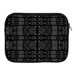 Black And White Tribal  Apple Ipad Zippered Sleeve by dflcprints