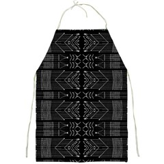 Black And White Tribal  Apron by dflcprints