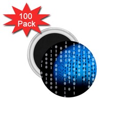 Binary Rain 1 75  Button Magnet (100 Pack) by StuffOrSomething