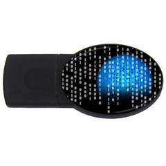Binary Rain 2gb Usb Flash Drive (oval)