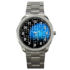Binary Rain Sport Metal Watch