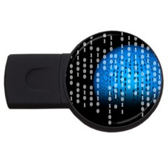 Binary Rain 4gb Usb Flash Drive (round)