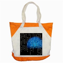 Binary Rain Accent Tote Bag