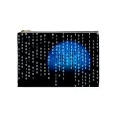 Binary Rain Cosmetic Bag (medium)