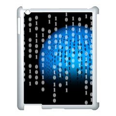 Binary Rain Apple Ipad 3/4 Case (white)