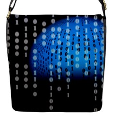 Binary Rain Flap Closure Messenger Bag (small)