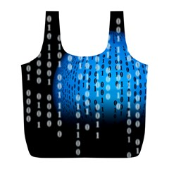 Binary Rain Reusable Bag (l)