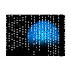 Binary Rain Apple Ipad Mini 2 Flip Case