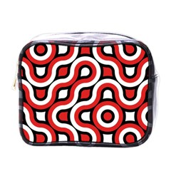 Waves And Circles Mini Toiletries Bag (one Side) by LalyLauraFLM