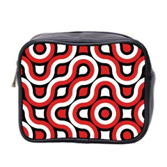 Waves And Circles Mini Toiletries Bag (two Sides)