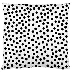 Black Polka Dots Large Cushion Case (single Sided)  by Justbyjuliestore